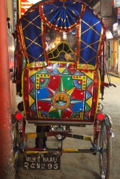 a colorful carriage buggy in Kathmandu, Nepal