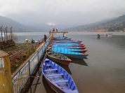 more colorful boats in Pokhara, Nepal