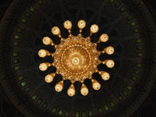Light in the Sultan Qaboos Grand Mosque