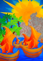 Paintings by Omani students