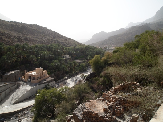 Looking down Wadi Bani Kharous from Al Alya