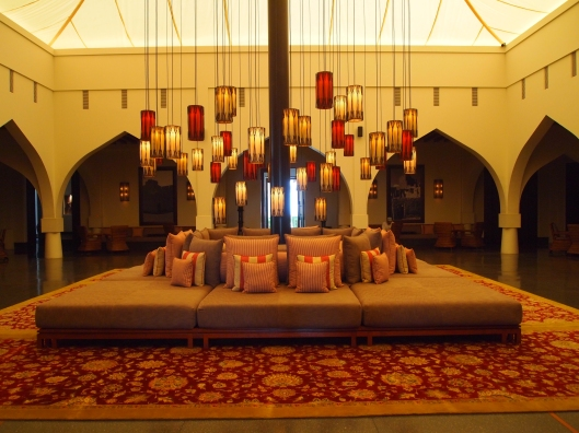 inside the lobby of the Chedi