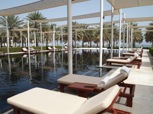 the pool at the Chedi
