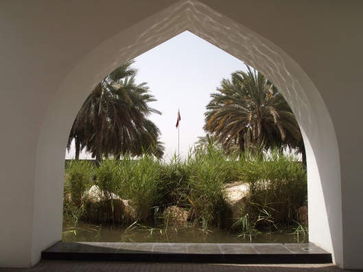 looking out from the entrance