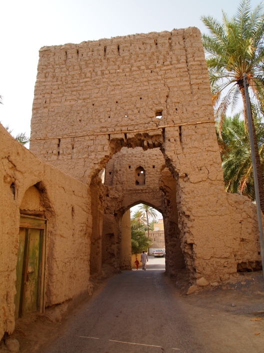 the back entrance to old Nizwa, behind the souq and the fort
