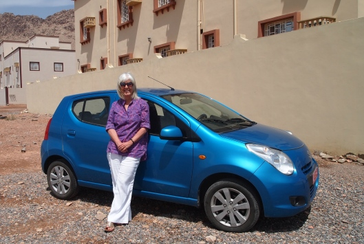 me with my Suzuki Celerio rental car