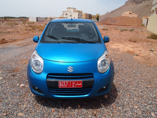 the Suzuki Celerio I will have until I leave Oman