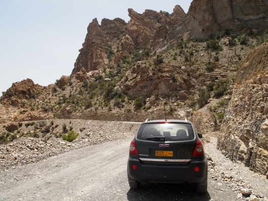 The Terrain on the dirt road through the Hajar Mountains, a harrowing 70 km route.