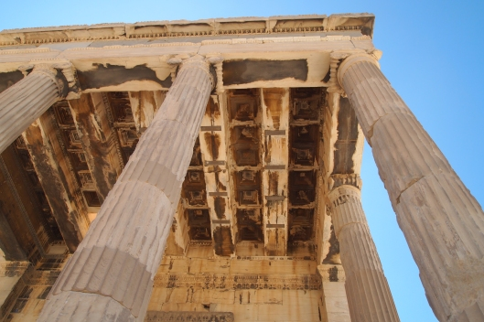 part of the Acropolis in Athens, Greece
