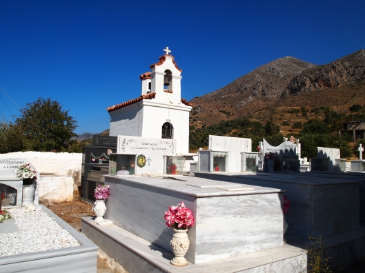 a cemetery near Plakias, in Crete, Greece
