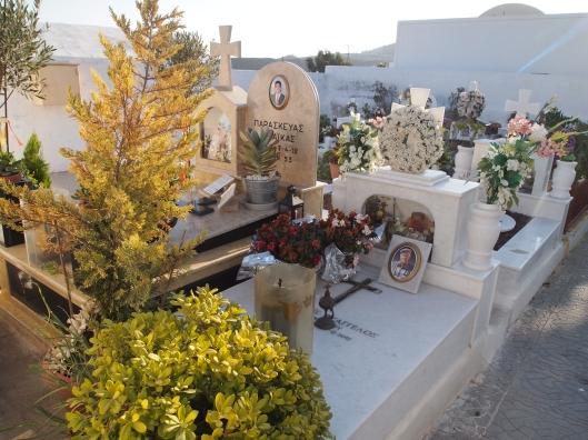 cemetery in Santorini