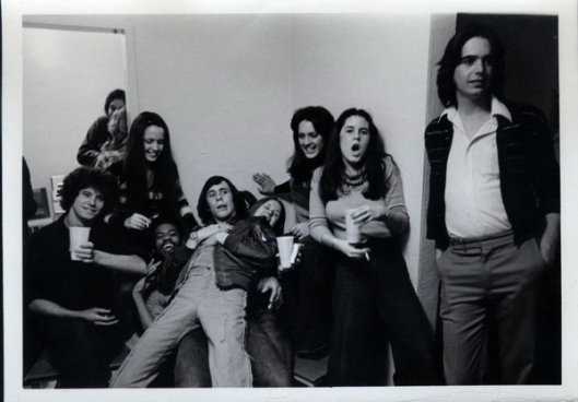 partying in 1974.  I'm the one with my mouth open and Rosie's standing beside me