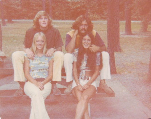 Louise and Gary, me and Paul in 1974