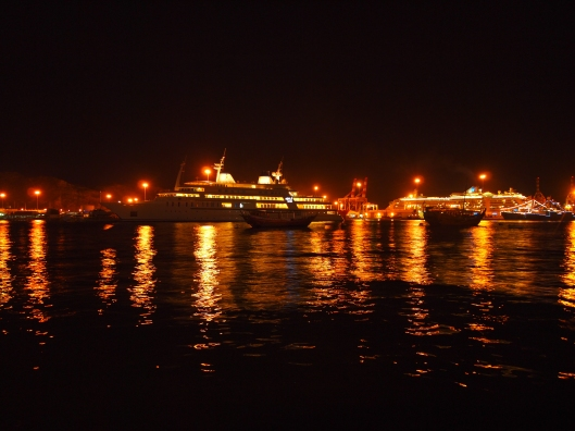 Lights in Mutrah Harbor, Muscat, Oman