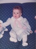 Sarah as a baby