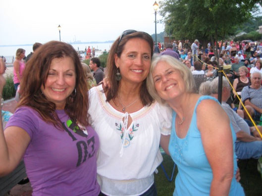 Charlene, Rosie and me in Yorktown in June 2009