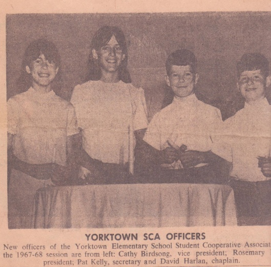 I'm on the left as Vice- President of the SCA, and Rosie, second from the left, was President.