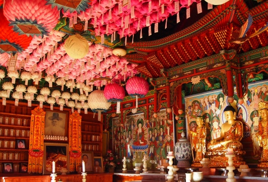 a temple in Maisan, South Korea
