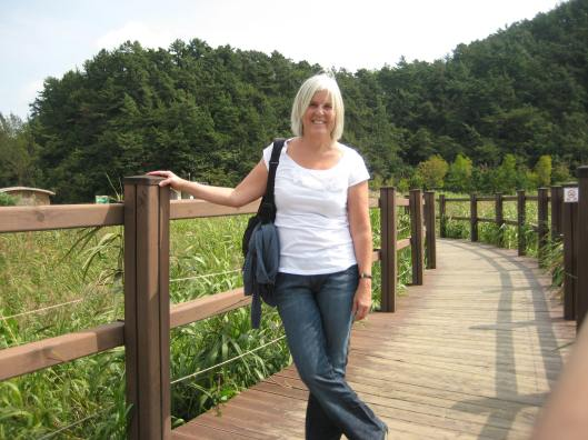a happy memory at Suncheon Bay in South Korea