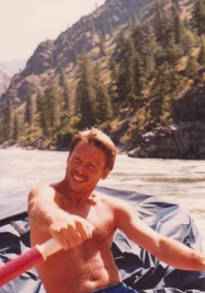 Bill, captain of our two-man inflatable canoe