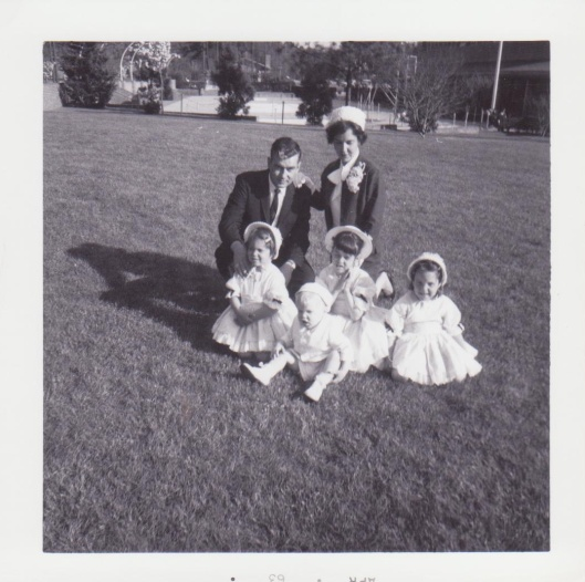 My father and mother and their four children (one was still to come!)