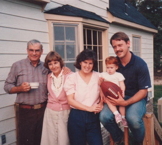 Dad, Mom, me, Sarah and Bill at our house in Richmond