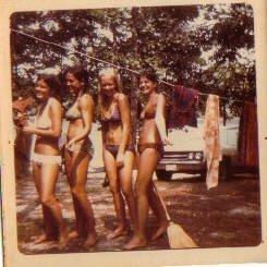 me, Rosie, Louise and Charlene at Lake Gaston