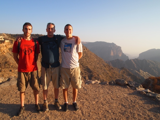 Alex, Mike and Adam on Jebel Akhdar