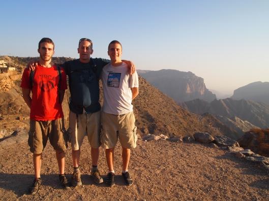 Alex, Mike and Adam on Jebel Akhdar