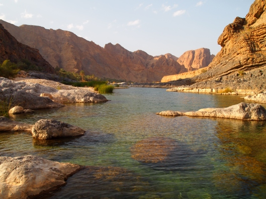 Wadi Arbiyyin on the east coast of Oman