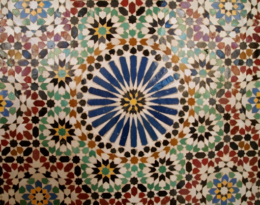 Mosaic at Sultan Qaboos Grand Mosque in Muscat, Oman
