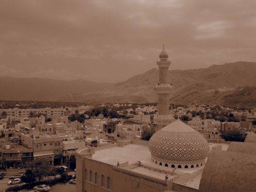 Looking down on Nizwa mosque from the fort