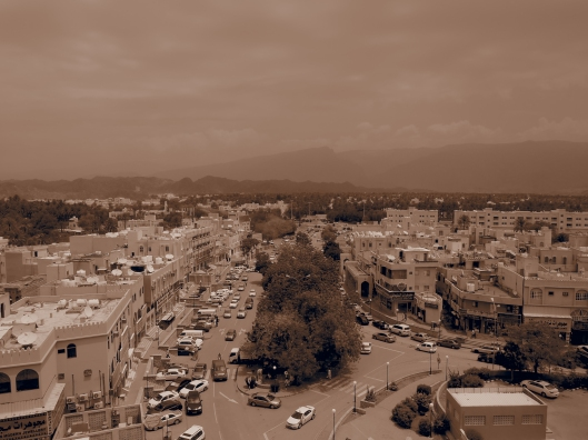 looking over Nizwa souq area from the Fort