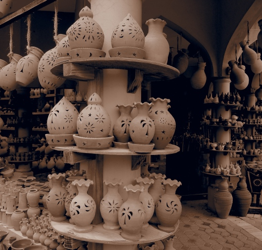 pottery at Nizwa souq