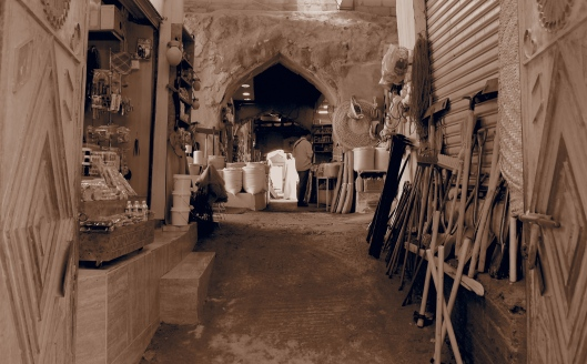 the entrance to the nut souq