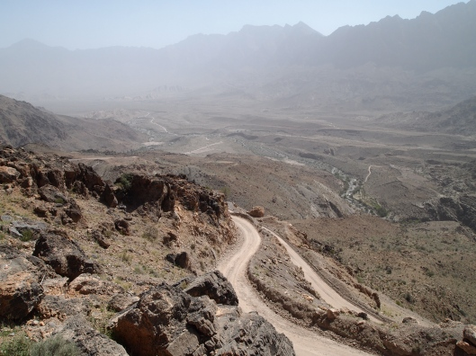 the view of Wadi Mistal from the village of Wekan