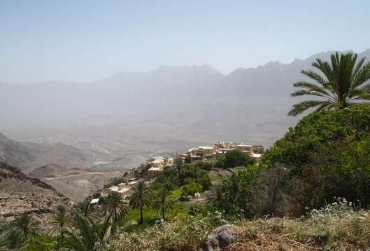 Looking down on Wekan from the gardens above