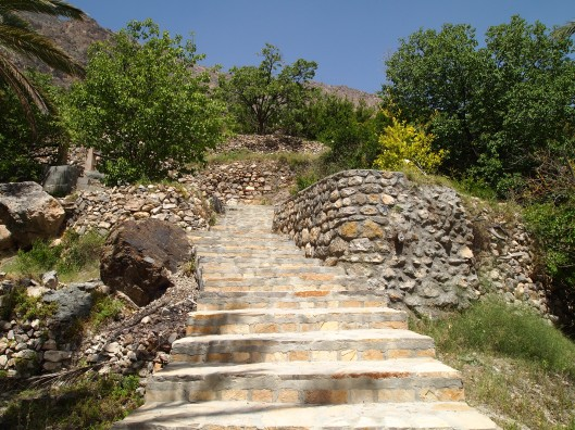 going up the Persian steps in Wekan