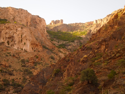 the view of the escarpment from Wadi Al Ayn
