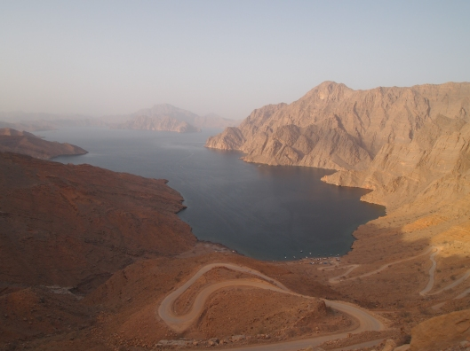 "From above: the ""fjords of Arabia"" in Musandam, Oman"