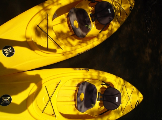kayaks at Deep Creek Lake