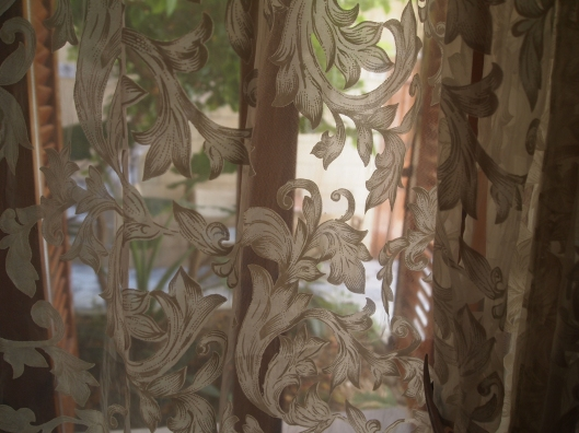 a breeze through the curtains at Barbara Studio in Crete