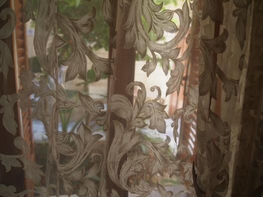 a breeze through the curtains at Barbara Studio in Crete