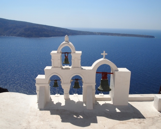 water ~ the Mediterranean at Santorini's caldera
