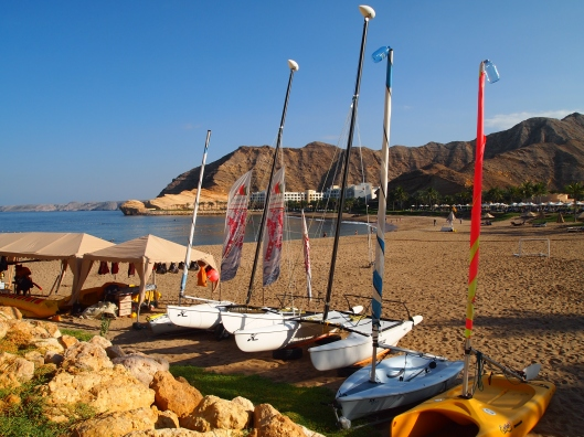 Beach at the Shangri-la Resort near Muscat, Oman