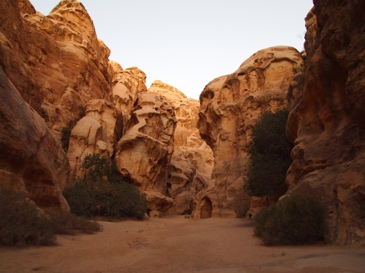 pathway through Little Petra in Jordan