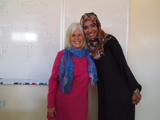 me with my favorite student Habiba, Level 2 English, Fall semester 2011