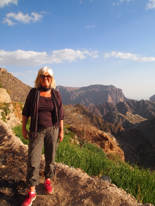 me on Jebel Akhdar, my favorite place in Oman, Valentine's Day 2013