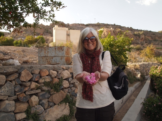 me with the Jebel Akhdar roses