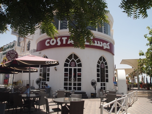 Costa Coffee, where people sit to people-watch
